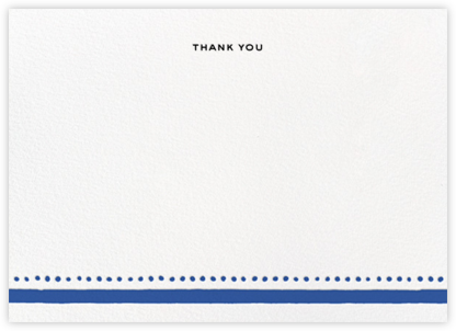 Charlotte Street II (Stationery) - Blue - kate spade new york - Wedding thank you cards