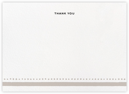 Charlotte Street II (Stationery) - Gray - kate spade new york - Wedding thank you notes