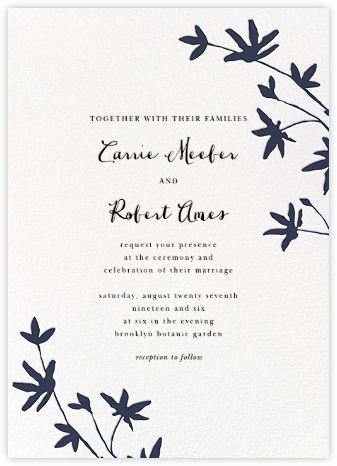 Oliver Park II (Invitation) - White/Navy - kate spade new york - Wedding Invitations