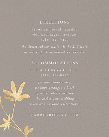 Oliver Park II (Invitation) - Taupe/Gold - kate spade new york - All - insert front