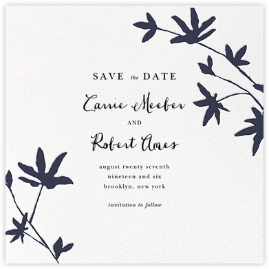 Oliver Park II (Save the Date) - White/Navy - kate spade new york - Save the dates