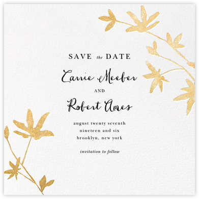 Oliver Park II (Save the Date) - White/Gold - kate spade new york - Save the dates