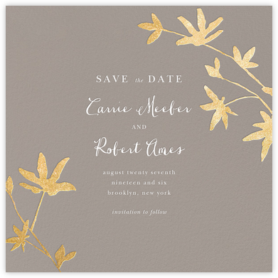 Oliver Park II (Save the Date) - Taupe/Gold - kate spade new york - kate spade new york