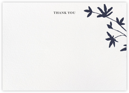 Oliver Park II (Stationery) - White/Navy - kate spade new york - Wedding thank you notes