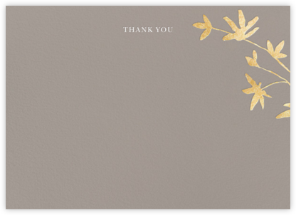 Oliver Park II (Stationery) - Taupe/Gold - kate spade new york - Wedding thank you notes