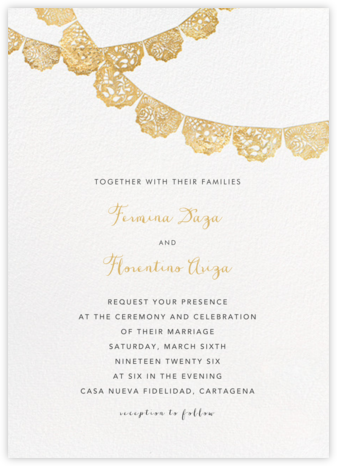 Tulum (Invitation) - Gold - Paperless Post - Wedding invitations