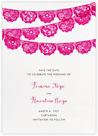 Tulum (Save the Date) - Bright Pink - Paperless Post - Save the dates