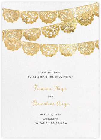 Tulum (Save the Date) - Gold | tall