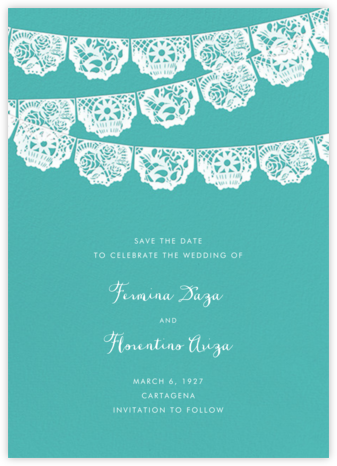 Tulum (Save the Date) - Lagoon/White - Paperless Post - Save the dates