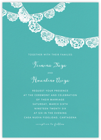 Tulum (Invitation) - Lagoon/White - Paperless Post -