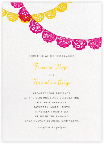 Tulum (Invitation) - Multi - Paperless Post - Wedding Invitations