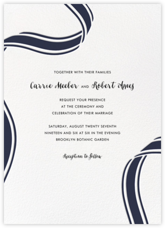 Ellis Hall II (Invitation) - Navy - kate spade new york - Wedding Invitations
