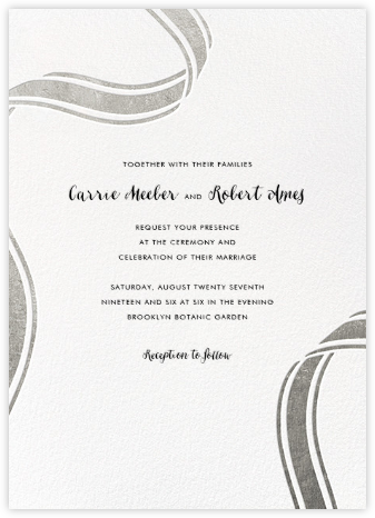 Ellis Hall II (Invitation) - Silver - kate spade new york - Wedding Invitations