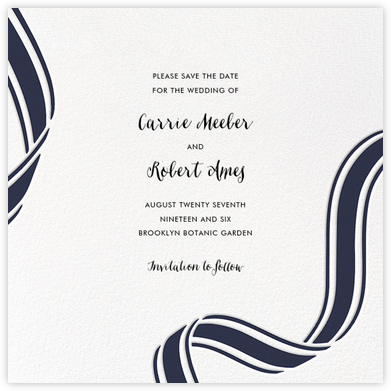 Ellis Hall II (Save the Date) - Navy | null