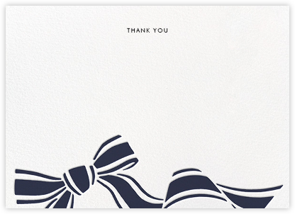 Ellis Hall II (Stationery) - Navy - kate spade new york - Wedding thank you notes