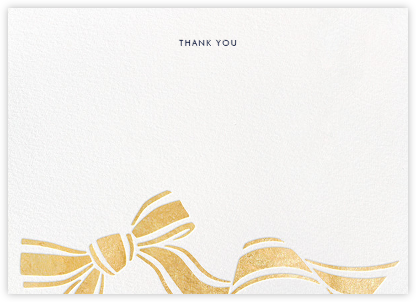 Ellis Hall II (Stationery) - Gold - kate spade new york - Wedding thank you notes