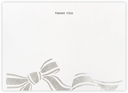 Ellis Hall II (Stationery) - Silver - kate spade new york - Wedding thank you notes