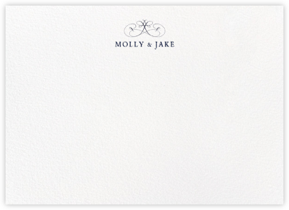 Emblem (Stationery) - Navy | horizontal