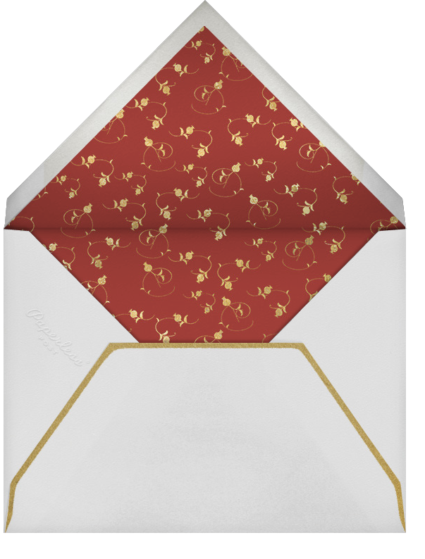 Emblem (Stationery) - Red - Bernard Maisner - Personalized stationery - envelope back