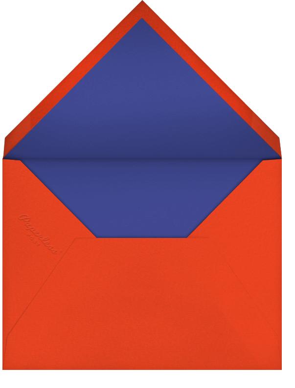Emblem (Stationery) - Flame - Bernard Maisner - Personalized stationery - envelope back