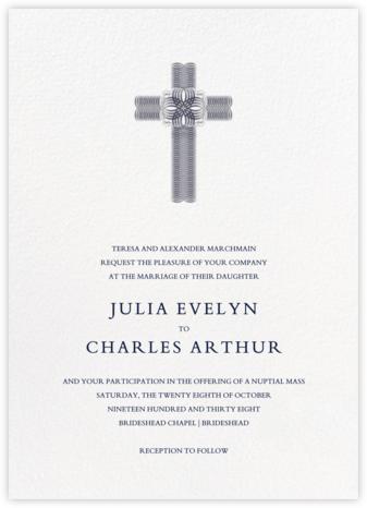 Crux (Invitation) - Navy - Bernard Maisner - Classic wedding invitations