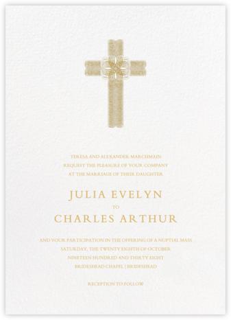 Crux (Invitation) - Gold - Bernard Maisner - Wedding Invitations