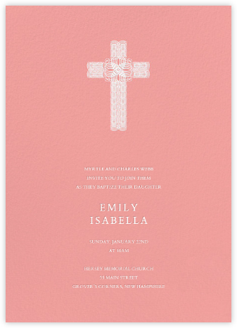 Crux (Invitation) - Blossom - Bernard Maisner - Christening Invitations