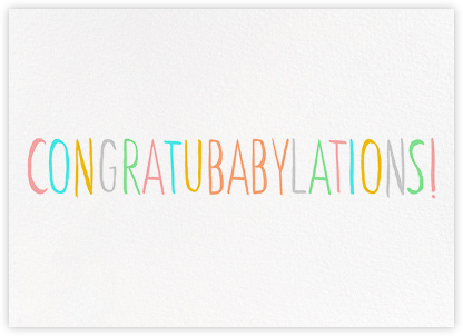 Congratubabylations - Ashley G - Online Cards