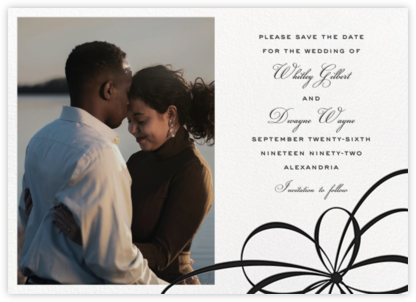 Belle Boulevard (Photo Save the Date) - Black - kate spade new york - Save the dates