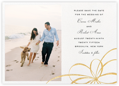 Belle Boulevard (Photo Save the Date) - Gold - kate spade new york - Gold and metallic save the dates