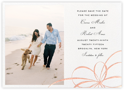 Belle Boulevard (Photo Save the Date) - Rose Gold - kate spade new york - Kate Spade invitations, save the dates, and cards