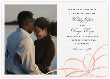 Belle Boulevard (Photo Save the Date) - Rose Gold - kate spade new york - Modern save the dates