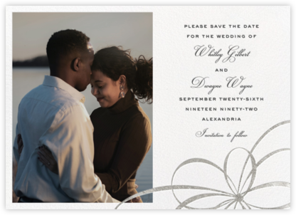 Belle Boulevard (Photo Save the Date) - Silver - kate spade new york - Save the dates
