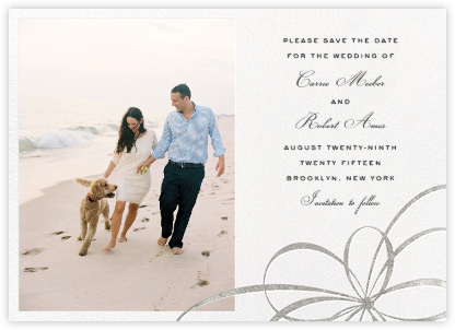 Belle Boulevard (Photo Save the Date) - Silver - kate spade new york - Kate Spade invitations, save the dates, and cards