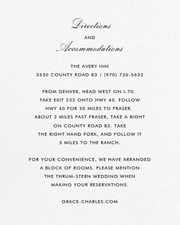 La Pavillion II (Invitation) - Black - kate spade new york - All - insert front