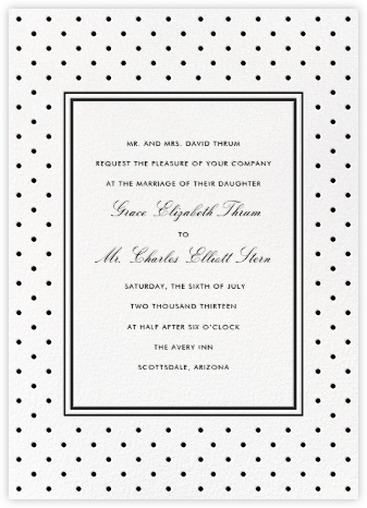 La Pavillion II (Invitation) - Black - kate spade new york - Wedding Invitations