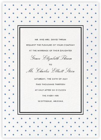 La Pavillion II (Invitation) - Cornflower - kate spade new york - Wedding Invitations