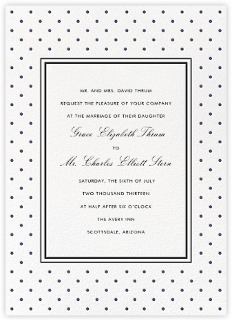 La Pavillion II (Invitation) - Navy - kate spade new york - Kate Spade invitations, save the dates, and cards