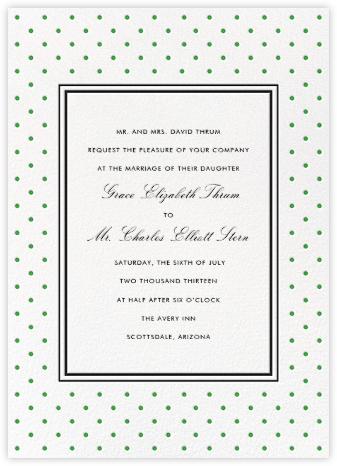 La Pavillion II (Invitation) - Green - kate spade new york -