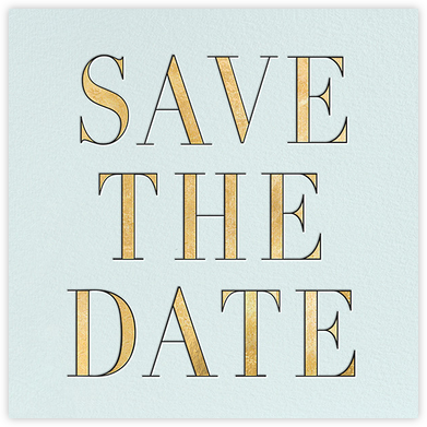 Prism - Gold - kate spade new york - Save the dates
