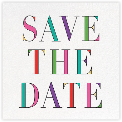 Prism - Multi - kate spade new york - Save the date cards and templates