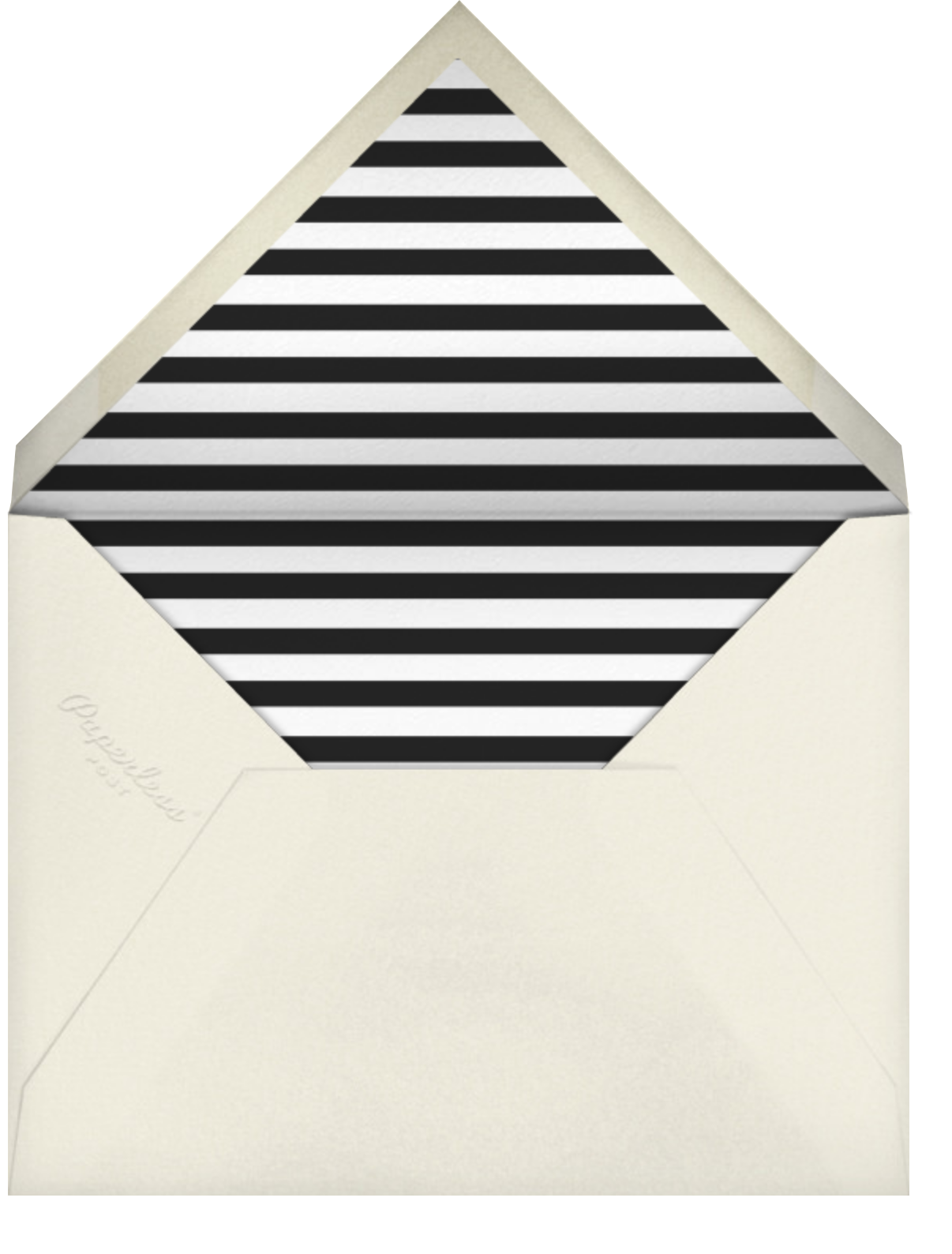 Typographic II (Photo Save the Date) - Gray - kate spade new york - Photo  - envelope back