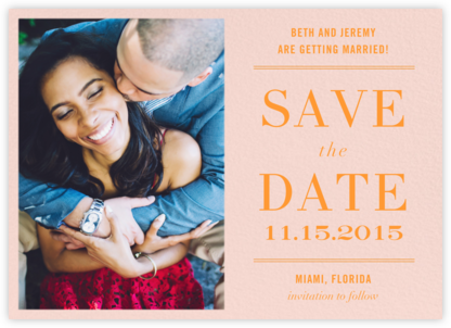 Typographic II (Photo Save the Date) - Meringue - kate spade new york -