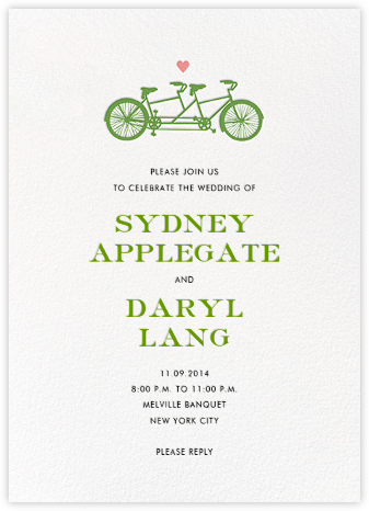 Tandem II (Invitation) - kate spade new york - Wedding Invitations