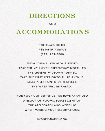 Tandem II (Invitation) - kate spade new york - All - insert front