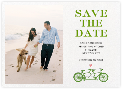 Tandem II (Photo Save the Date) - kate spade new york - Save the dates