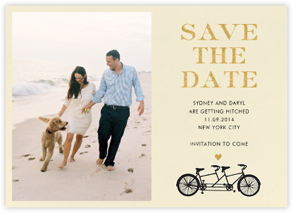 Tandem I (Photo Save the Date) - kate spade new york - Save the dates
