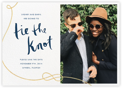 Nautical II (Photo Save the Date) - White - kate spade new york - Save the dates