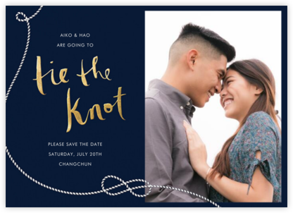 Nautical II (Photo Save the Date) - Navy - kate spade new york - Save the dates