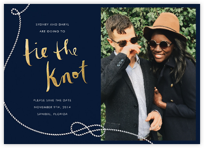 Nautical II (Photo Save the Date) - Navy - kate spade new york - Kate Spade invitations, save the dates, and cards